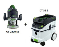 Festool P36574277 CT 36 E/OF 2200 EB Package Deal