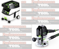 Festool PI574342 Ct MIDI/ OF 1400 EQ Package Deal With T-Loc