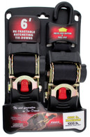 Erickson 34414 2 In X 6 Ft Retractable Ratcheting Tie-Down Strap 2 Pk