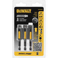 DeWalt DWA2240IR 3 Piece Cleanable Impact Ready Nut Driver Set