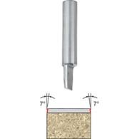 "Freud 68-100 Flush/Bevel Trim Bit Single Flute Solid Carbide 7-Deg. 1/4"""