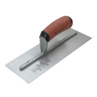 Marshalltown 15802 11 X 4 1/2 Notched Trowel 3/16 X 5/32 'V' With Curved DuraSoft Handle
