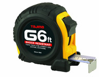 Tajima G-6BW Standard Scale 6 Foot X 1/2 Inch Tape Measure