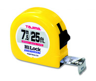Tajima HL-25/7.5MBW 25 Ft Standard 7.55 M 1 In Dual Scale Tape Measure