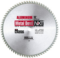 MK Morse 101646 10 in. x 72T Metal Devil Cutting Circular Saw Blade - Aluminum
