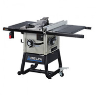 Delta 36-5000 10 In. Left Tilt Table Saw w/ 30 In. Right-Hand Rip and Steel Wings