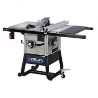 Delta 36-5100 10 In. Left Tilt Table Saw w/ 30 In. Right-Hand Rip and Cast Iron Wings