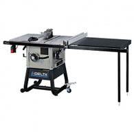 Delta 36-5152 10 In. Left Tilt Table Saw w/ 52 In. Right-Hand Rip and Cast Iron Wings