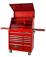 Extreme Tools PWSRC4129TXRD Combo 41 In. Deluxe Extreme Workstation & Roller Tool Cabinet - Red