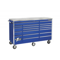 Extreme Tools EX7218RCBL 72 In. 18 Drawer Standard Series Roller Tool Cabinet - Blue