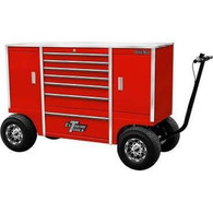 Extreme Tools TXPIT7009BK 70 in. Mobile Pit Box with 7 Drawers and 2 Side Compartments - Red