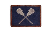 Needlepoint Lacrosse Credit Card Wallet