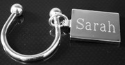 Silver Plate Rectangular Key Ring