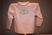 Children's Light Pink Cotton Roll Neck Sweater