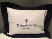 Navy Blue Bordered Baby Pillow