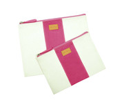 Stripe Pouch Small Pink