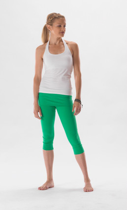 Kelly crop pant in grass | Hyde at Fire and Shine | Women's capris