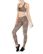 Rockell Elite Compression Tights in Leopard | Vie Active at Fire and Shine | Womens Leggings