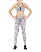Rockell Compression Tights in Snow Leopard | Vie Active at Fire and Shine | Womens Leggings