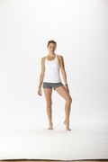 Taylor Cross Back tank in white | Hyde at Fire and Shine | Womens tanks