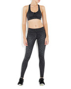 Black Leopard Rockell Elite Compression Tights | Vie Active at Fire and Shine | Womens leggings