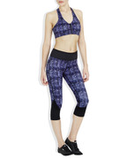 Chelsea Compression 3/4 Tights Midnight Garden | Vie at Fire and Shine | Womens capris