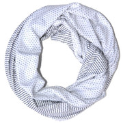 Nantucket Grey and White Borelli Scarf | Borelli Design at Fire and Shine | Womens Scarves
