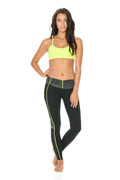 Alexis Legging in Black/Neon/Heather | Body Language at Fire and Shine | Women's leggings