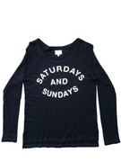 Saturdays and Sundays Long Sleeve Raglan | Sundry at Fire and Shine | Womens Long-sleeve Tops
