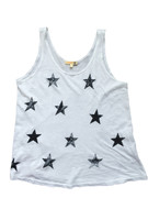 Boxy Tank with Stars | Sundry at Fire and Shine | Womens Tanks