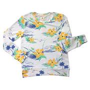 Sundry Fleece Floral Sweatshirt | Sundry at Fire and Shine | Womens Long-Sleeve Tops