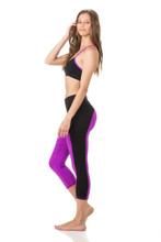Sasha Capri in Sorbet/Black | Body Language at Fire and Shine | Womens Leggings