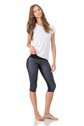 Everly Tee in White/White Mesh | Body Language at Fire and Shine | Womens Tops