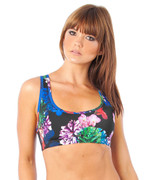 Flower Bomb Muscle Crop in Black   Lurv at Fire and Shine   Womens Crops