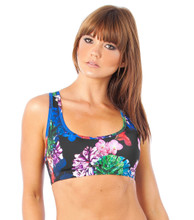 Flower Bomb Muscle Crop in Black | Lurv at Fire and Shine | Womens Crops