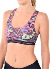 Courage Bra in Feather Print | Nux at Fire and Shine | Womens Crops