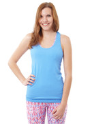 Freedom T Back Tank Sky Blue | Nux at Fire and Shine | Womens Tanks