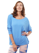 Sadie Long-Sleeve Top in Sky Blue | Nux at Fire and Shine | Womens Tops