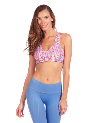 Tempo Bra in Native Print   Nux at Fire and Shine   Womens Crops