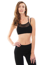 Network Bra in Black | Nux at Fire and Shine | Womens Crops