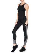 Taryn 7/8 Tights Black/Grey | Vie Active at Fire and Shine | Leggings
