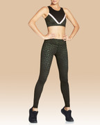 Rockell Full Length Tights Olive Leopard | Vie Active at Fire and Shine | Leggings