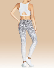 Rockell Full Length Tights White Leopard Ombre | Vie Active at Fire and Shine | Leggings