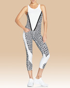 Whitney Crop Tights in White Leopard | Vie Active at Fire and Shine | Capris