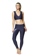 Talbot Avenue - Elements Legging - Blue/Aubergine/Coral