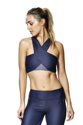 Trinity Crop Blue | Talbot Avenue at Fire and Shine | Womens Crops