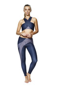 Oracle Legging Blue Nights | Talbot Avenue art Fire and Shine | Womens Leggings