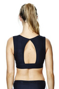Zion Crop Black | Talbot Avenue at Fire and Shine | Womens Crops