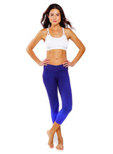 V Fit Crop Electric Purple | Nux Active at Fire and Shine | Womens Leggings