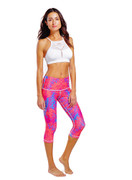 Madrid Reversible Capri | Nux Active at Fire and Shine | Womens Leggings